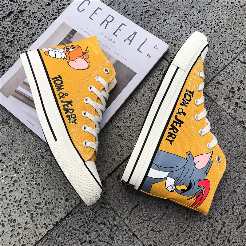 New Arrival High Quality Canvas High Top Shoes Women Lace-Up Outdoor Fashion Girls Shoes Girls  Casual Sneakers Tenis Feminino