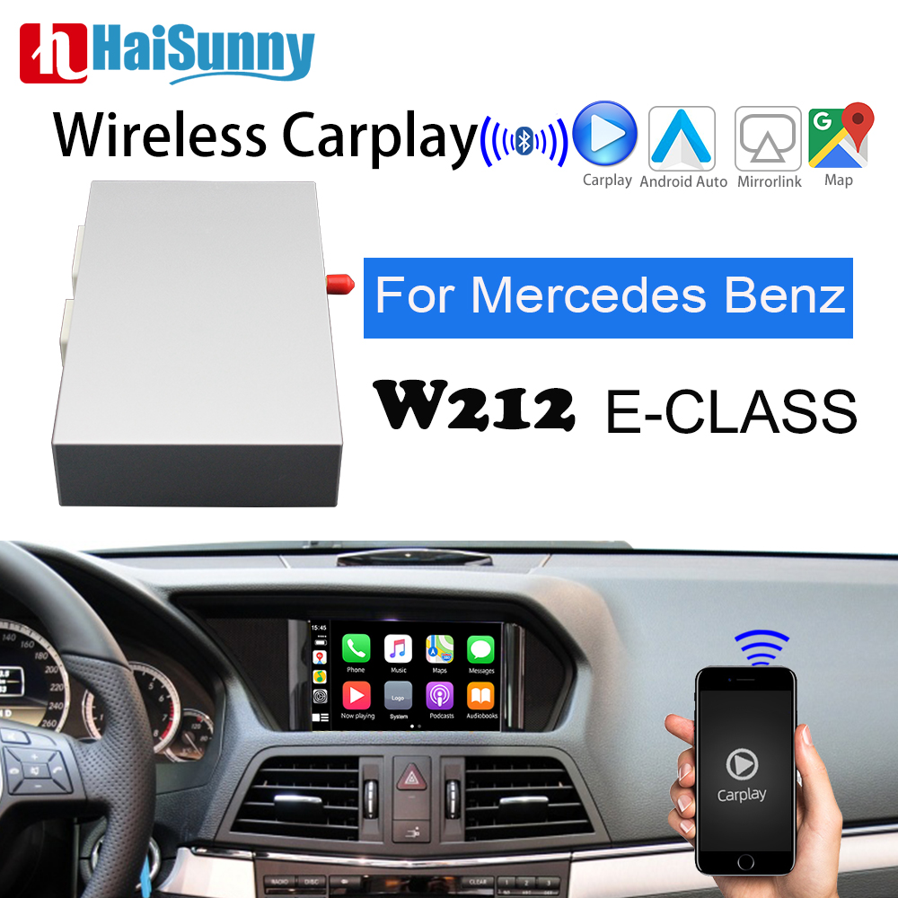 Wireless Apple Carplay For <font><b>mercedes</b></font> <font><b>benz</b></font> w212 E class Support NTG 4.5 5 System multi media Navigation car play For Rear Camera image