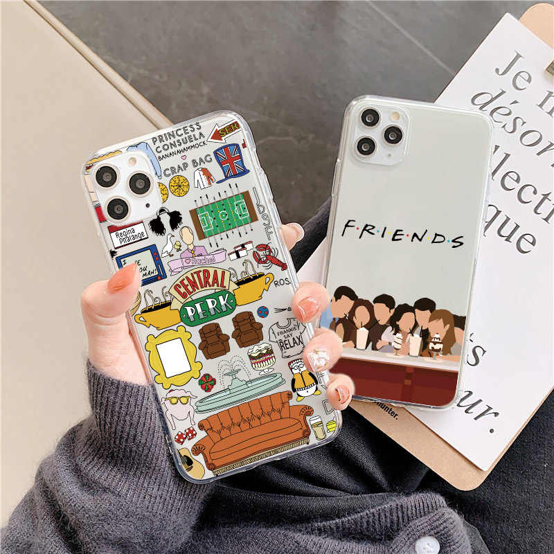 Capa central perk friends para huawei, p20 p40 lite p30 pro mate 20 30 lite p smart y9 capa honor 8x 10 20 v20 nova 5t