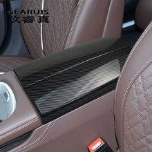 Автомобильный Стайлинг для BMW G11 G12 7 серий наклеек отделка Автомобильная накладка полотно подлокотник панель из углеродного волокна крышка ...