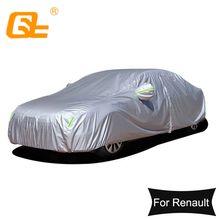 190T Universal Car Covers Outdoor sun protection Dustproof rainproof Snow protection for Renault Clio Captur Kadjar Silver