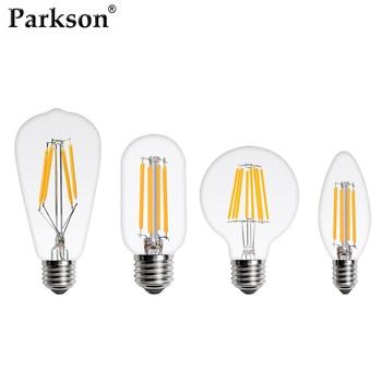 Bombilla LED Edison E27 E14 220V 4W 6W 8W C35 G45 ST64...
