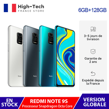 "Global Version Xiaomi Redmi Note 9S 9 S 4/6GB RAM 64/128GB ROM Smartphone Snapdragon Octa Core 48MP Quad Camera 6.67"" Display"