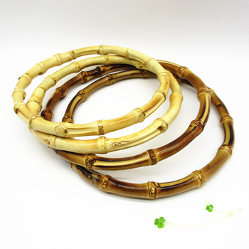 1 PC Vintage Round Bamboo Bag Handle For Hand-crafted Handbag DIY Replacement Accessories High Quality Wholesale