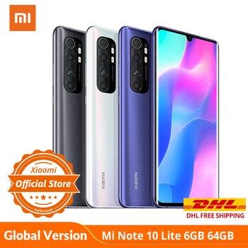 Купить Глобальная версия смартфона xiaomi mi Note 10 Lite, 6 ГБ + 64 ГБ, Snapdragon 730G, nfc G-pay, 64mp четыре камера, 5260 мАч, 30 Вт