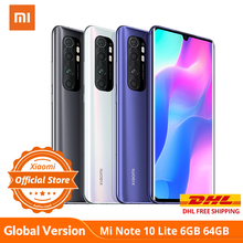 Global Version Xiaomi Mi Note 10 Lite 6GB 64GB Snapdragon 730G NFC G-pay 64MP Quad Camera M