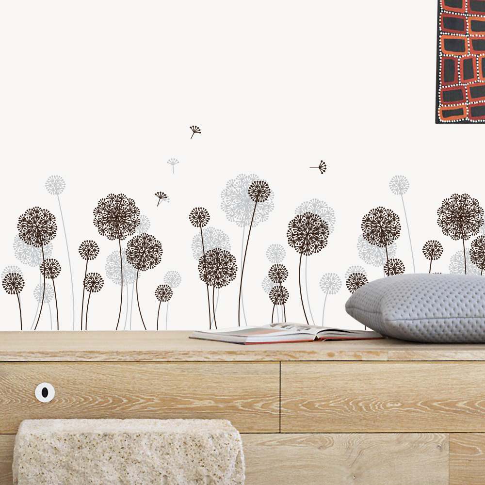 Wall Sticker Dandelion Pattern Room Decoration  Backdrop Bedroom Living Room Decoration Stickers  Home Decor