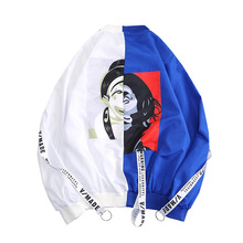 CAPTAIN TENES New Jacket Slim Mens Loose Trend BF Style Couple Student Popular Clown Printed Sunscreen