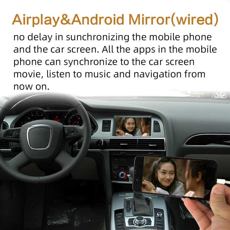 Sinairyu アウディ 2 グラム A4 A5 A6 A8 Q5 Q7 WIFI ワイヤレス Apple CarPlay 有線 Android の自動マルチメディアレトロフィットインターフェイスキット