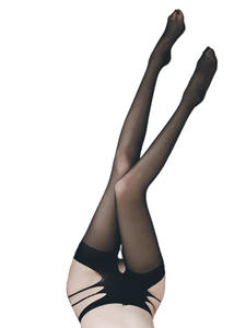 Transparent Stockings Lingerie Pantyhose Fishnet Open-Crotch OJBK Tights Garter Sexy