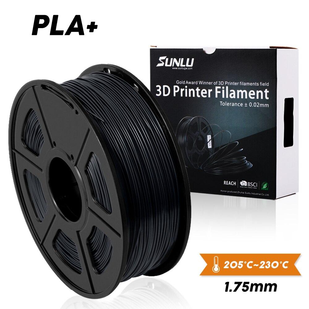SUNLU 3D yazıcı Filament PLA PLUS 1.75mm 2.2 LBS 1KG makara yeni hızlı gemi yeni 3D baskı malzemesi için 3D yazıcılar ve 3D kalemler