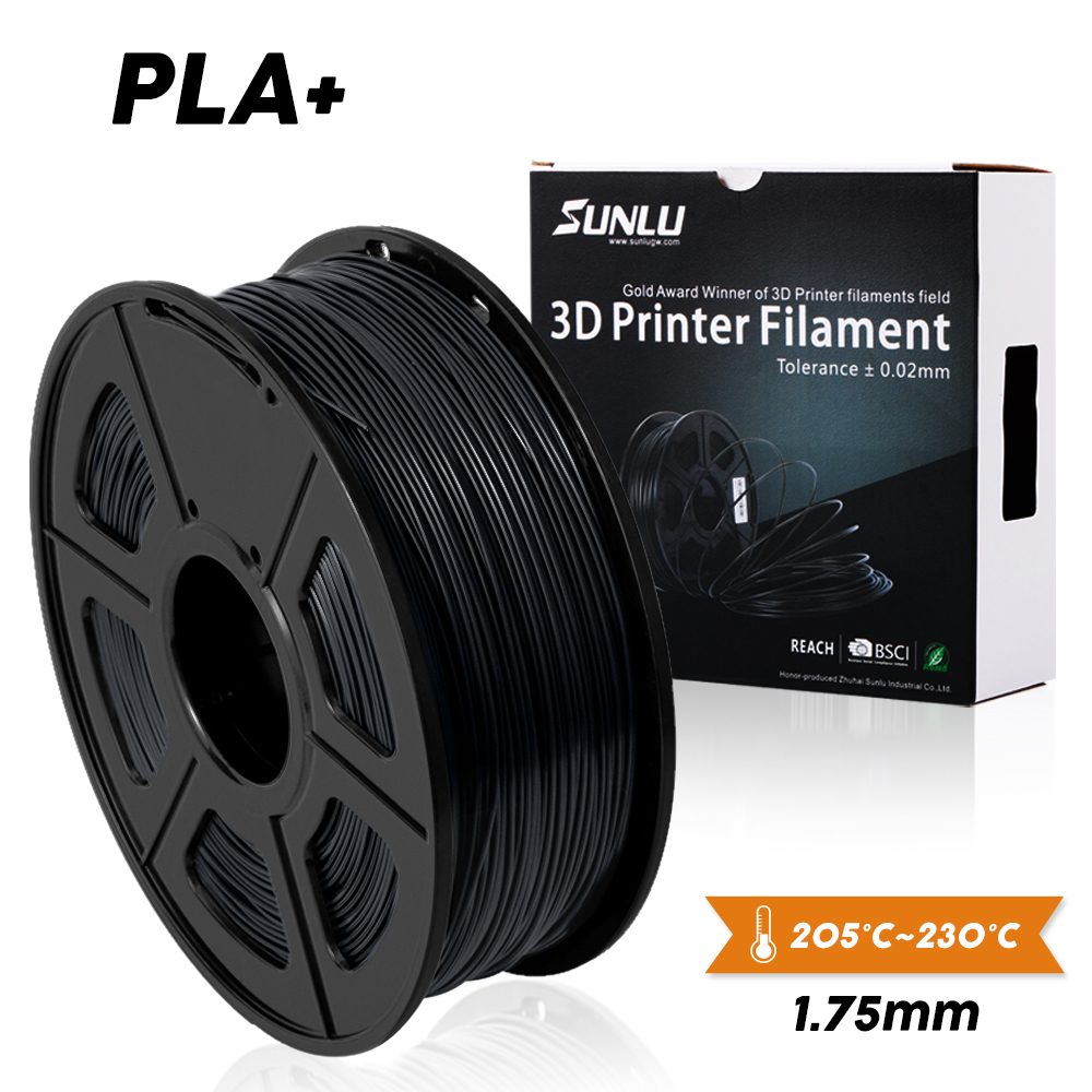 Sunlu 3D Printer Filamen PLA Plus 1.75 Mm 2.2Kg 1Kg Spul Baru Kapal Cepat Baru 3D Bahan Percetakan untuk 3D Printer dan 3D Pulpen