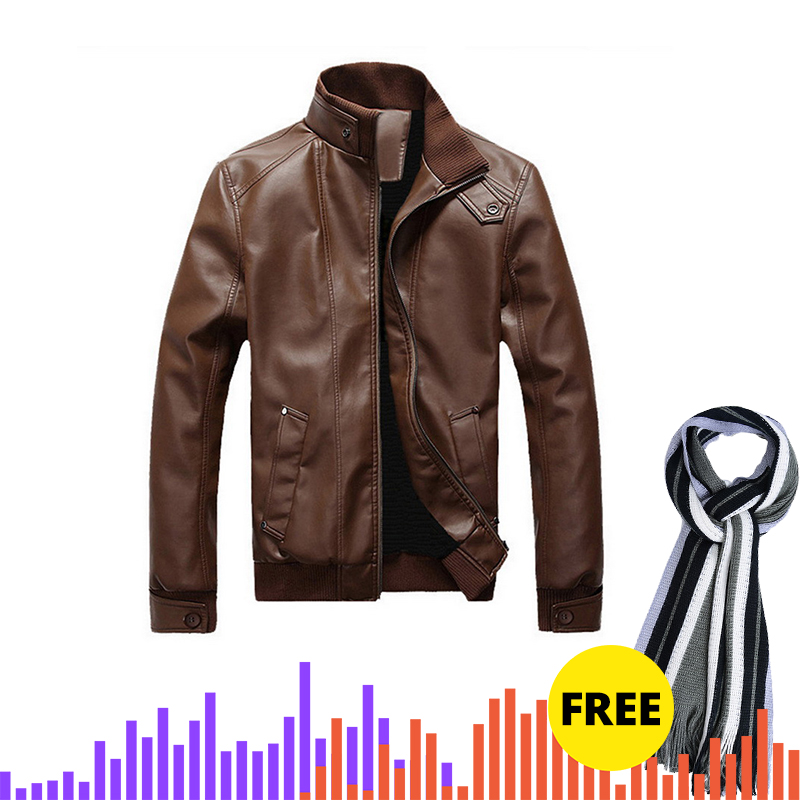 Adisputent Autumn Stand Collar Faux Leather Jackets With Pockets Casual  Outwear Men Coats Male Plus Size Chaqueta  Hombre