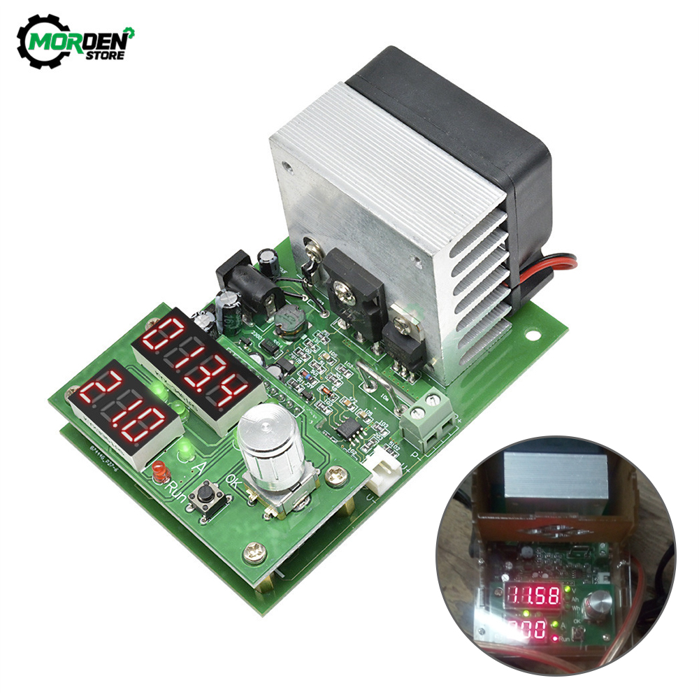 Fast Deliver 60w 30v Constant Current Electronic Load Lcd Digital Display Discharge Battery Adjustable Temperature Capacity Meter Tester 100% High Quality Materials
