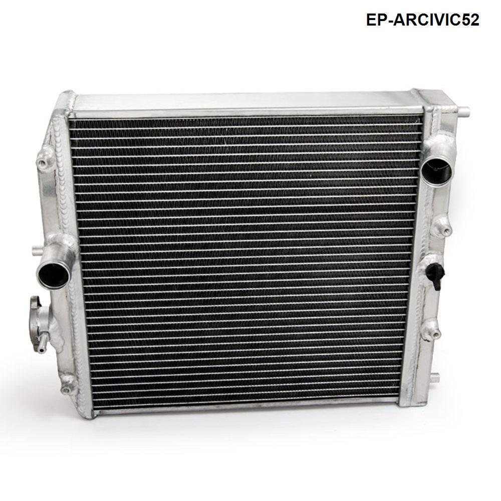 Hoge Prestaties Jdm 3 Rij Racing Aluminium Radiator Voor Honda Civic Ek Eg Del Sol Handleiding 52 Mm EP-ARCIVIC52