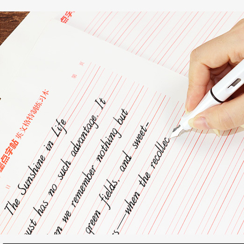 Calligraphy Practice Grid Paper English Four-Line Grid Calligraphy ExerciseBook Copypaper Miaohong Paper Copybook Learning Tools
