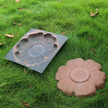 DIY Cement Paving Mold Floor Tile Pavement Mold Flower Mold Stepping Stone Mold Reusable Concrete Cement Stone Garden Road Tool cement garden