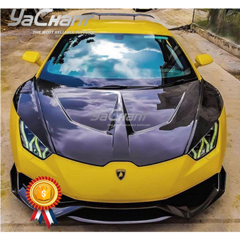 Carbon Fiber Front Trunk Lid Replacement Fit For 2014-2019 Huracan LP610-4 & LP580-2 Coupe Spyder 1016 Style Hood Bonnet