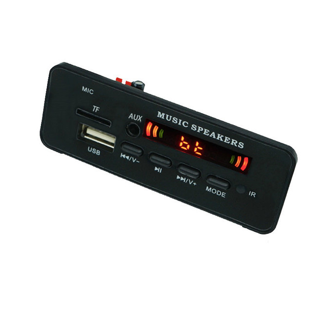 5v 12v mp3 wma decodificador placa módulo de áudio usb tf rádio bluetooth5.0 música sem fio com carro de controle remoto mp3 player