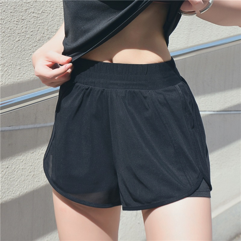 Sports Shorts Women Summer 2019 New Candy Color Anti Emptied Skinny Shorts Casual Lady
