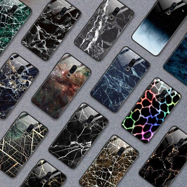 Pour iPhone 5S SE 6 6S 7 8 Plus XR XS MAX Couvercle En Verre Trempé pour Meizu M5 M6 M8 M9 Note 16th Plus Luxe Antichoc Dur Coque