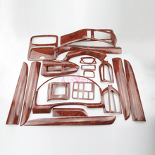 28 pcs Interior Wooden Color Moulding Trims 2003 2004 2005 2006 2007 2008 2009 Car Styling For Toyota Land Cruiser Prado FJ120