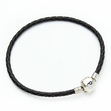 Charm Bracelets Pulseras Braided Leather Jewelry Women Lovers for Fit-Pan Masculino Female