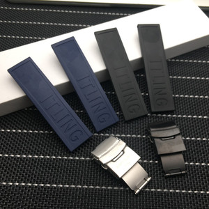 Black Blue Silicone Rubber Watch band 20mm Watchband Bracelet For navitimer/avenger/Breitling strap tools
