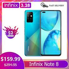 Infinix Note 8 6GB 128GB Global Version Mobile Phone 6 95 #8221 HD+ Display 5200mAh Battery 18W Fast Charge Helico G80 Octa Core cheap Not Detachable CN(Origin) Android Fingerprint Recognition Face Recognition ≈64MP Other Adaptive Fast Charge english Russian