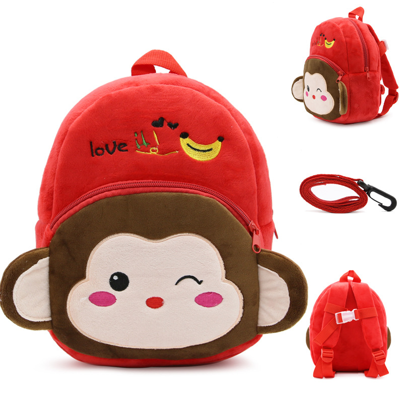 Korean-style Cartoon Toys Bag Anti Lost CHILDREN'S School Bags Backpack Early Education Backpack Printed Words And Logo
