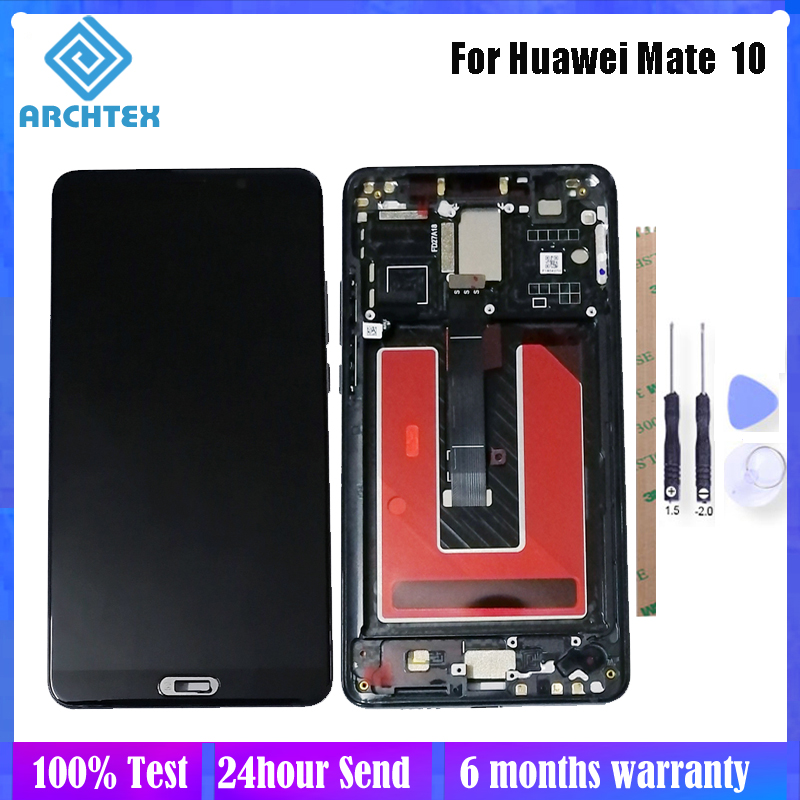 5.9 Inch For Huawei Mate 10 ALP L09 L29 LCD Display + Touch Screen With Frame Digitizer Assembly Parts 100% Tested Free Tools