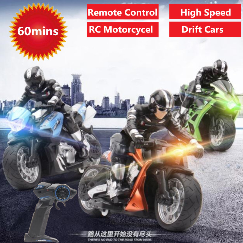 RC stunt motorcycl 2.4GHz 3D Rotation Flips drift stunt motorbike electric remote control Racing drift Car with flash light toys
