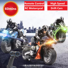 RC stunt motorcycl 2.4GHz 3D Rotation Flips drift stunt motorbike electric remote control Racing drift Car with flash light toys(China)
