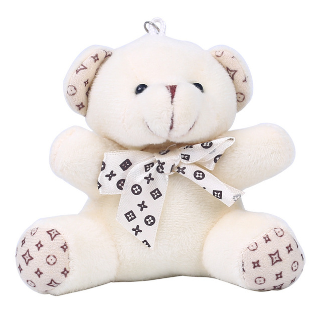 Фото модный милый плюшевый помпон для девочек брелок в виде медведя