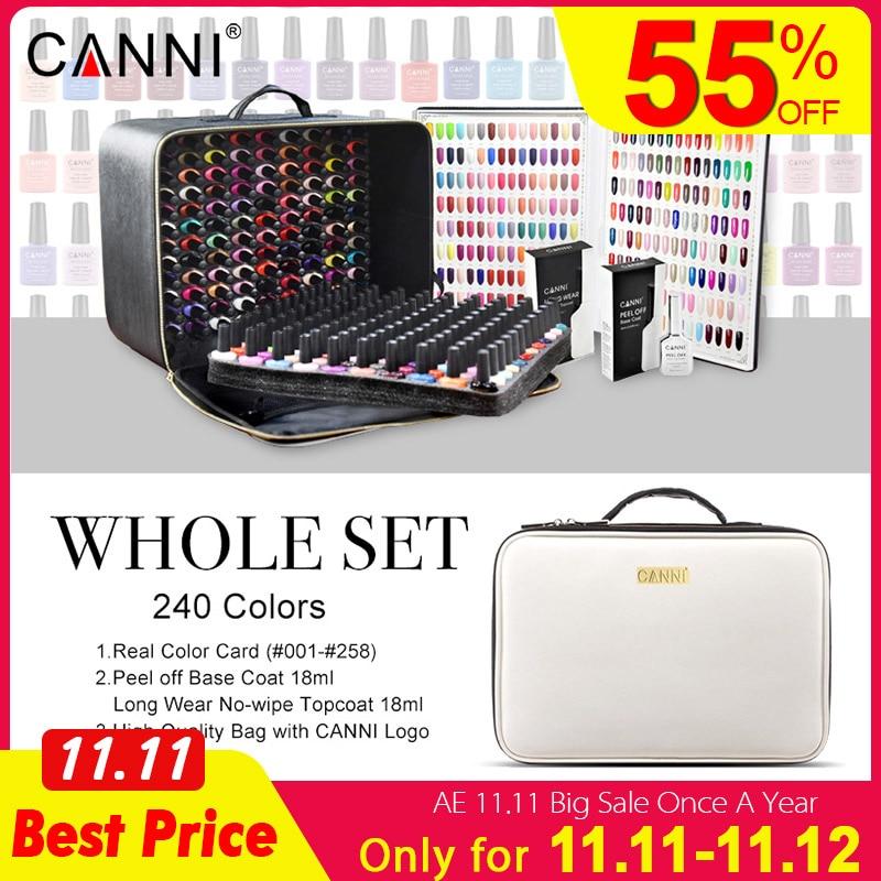 240 Colors/lot CANNI Soak Off Gel Nail Polish 7.3ml LED UV Color Gel Lacquer Nail Art Salon LED Lamp Curing UV Gel Nail Polish-in Nail Gel from Beauty & Health