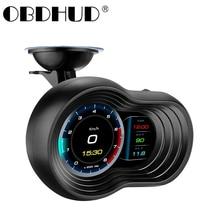 Wiiyii novo f9 hud obd2 cabeça up display gps do carro medidor de navegação digital velocímetro projetor turbo óleo temp computador carro