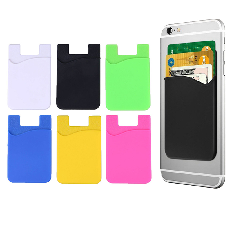 Card Case XISAOK Credit Card Holder,Adhesive Sticker Mobile Phone Back Cards Wallet Credit ID Card Holder Pocket,Business Card Holder