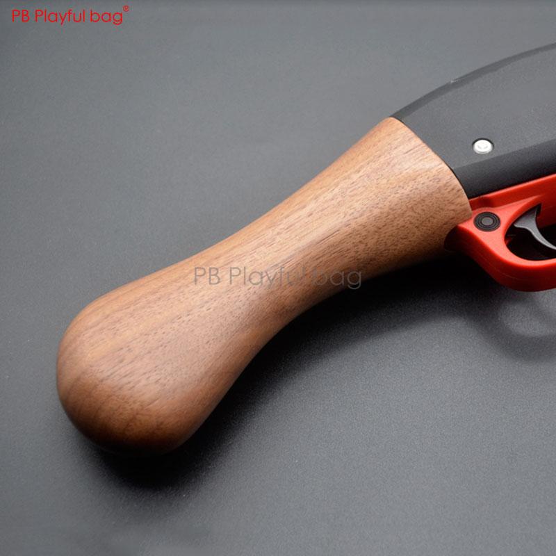 Playful Bag Outdoor CS  AKA M870 Short Wooden Grip Black Walnut Gel Ball Gun Accessory M4 LDT416 Jinming Ak74u CS Toy Parts LD96