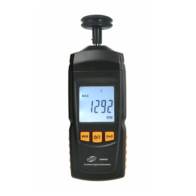 GM8906 Digital Contact Motor Tachometer Portable LCD Speedometer Tach RPM Teste Rotate Speed Meter 0.5~19999RPM Data Hold