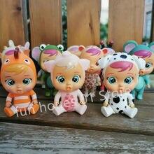 8 pçs cry dolls bebê cry lols animais de estimação boneca menino menina brinquedos crianças polly bolso boneca ele vai derramar lágrimas para o presente aniversário do bebê