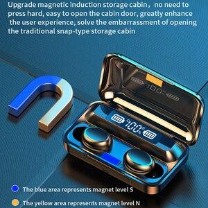 Image 1 - Oringinal F9 słuchawki Bluetooth 5.0 TWS zestaw słuchawkowy z czytnikiem linii papilarnych radio HiFI słuchawki douszne wodoodporne słuchawki bezprzewodowe