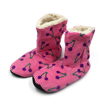 цена на Winter Women Slippers Plush Warm Cotton Home Slippers Christmas Indoor Socks Shoes Ladies Woman Cherry Floor Shoes Footwear