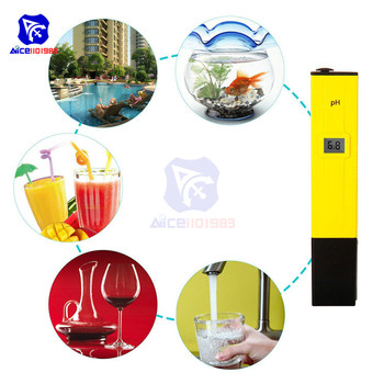 Digital PH Meter/PH Tester/Mini Water Quality Tester for Drinking Water Hydroponics Aquariums Swimming Pools 0.1PH Resolution image