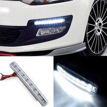 8 Lamp LED światła do jazdy dziennej samochodów DRL światła przeciwmgielne do jazdy dziennej lampy drl do automatycznych świateł nawigacyjnych Singnal
