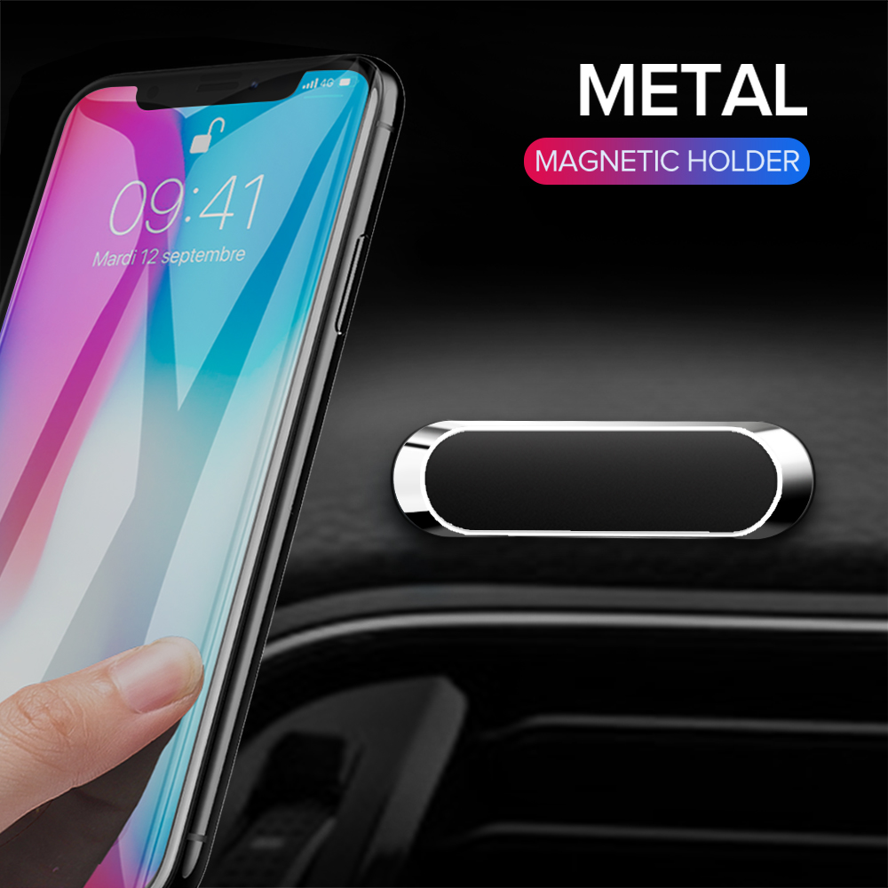 GETIHU Mini Magnetic Car Phone Holder Metal Plate Magnet Cell Stand For IPhone XS Samsung Xiaomi Smartphone In Car Mobile Mount