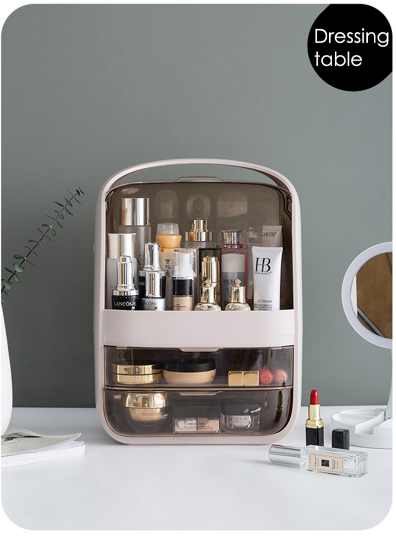 Fashionable Waterproof and Dustproof Makeup Organizer with Large Capacity for Storage of Cosmetic and other Beauty Products 11