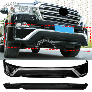 Car Styling Accessories Fit For Toyota Land Cruiser LC200 2016-2020 Black Painted Body Kit Front And Rear Bumper Lip Protection