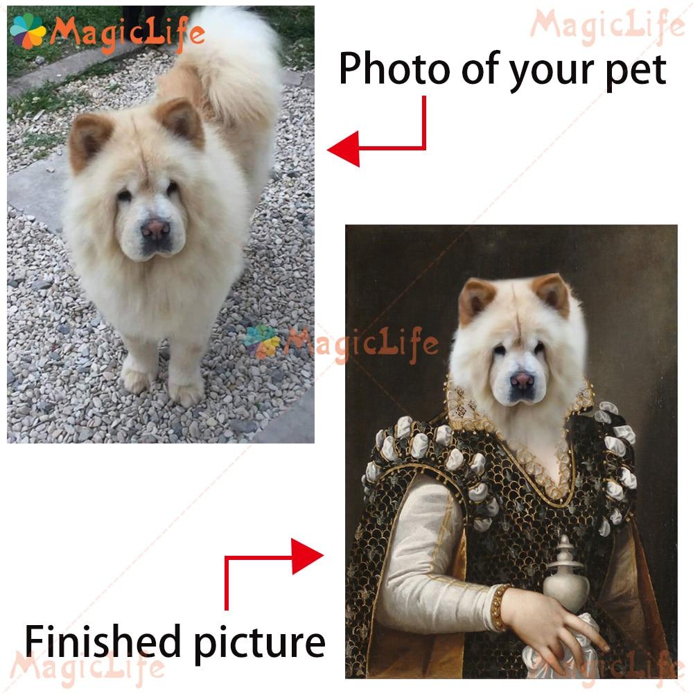Винтажный постер для домашних животных и собак на заказ, настенная Картина на холсте для среднего возраста, настенные картины для гостиной, ...
