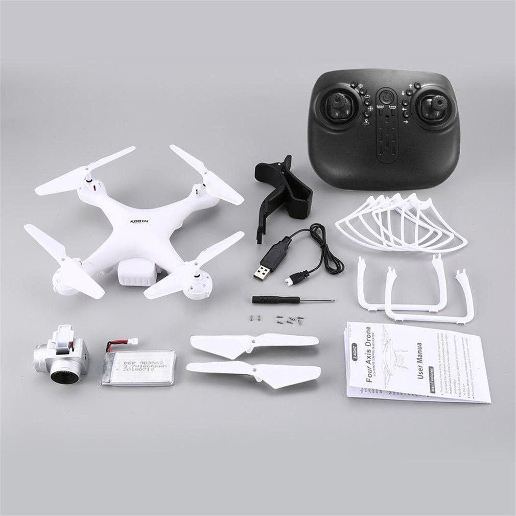 KOOTAI X180 2.4G FPV RC Quadcopter Drone UAV with 0.3MP Camera Altitude Hold Headless Mode 3D-Flip 18mins Long Flight
