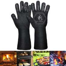 Grilling-Gloves Oven-Mitt Protective Heat-Resistant Silicone BBQ of 1-Pair Than Lower